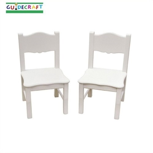 Guidecraft Classic White Extra Chairs (Set of 2)