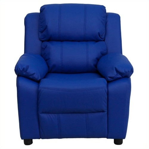 Flash Furniture Contemporary Kids Recliner in Blue