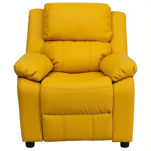 Flash Furniture Heavily Padded Kids Recliner in Yellow