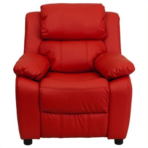 Flash Furniture Heavily Padded Kids Recliner in Red