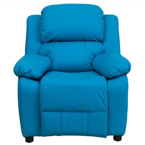 Flash Furniture Heavily Padded Kids Recliner in Turquoise