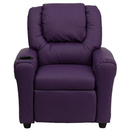 Flash Furniture Kids Recliner in Purple