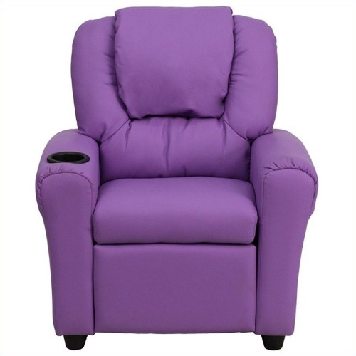 Flash Furniture Kids Recliner in Lavender