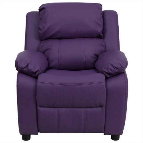 Flash Furniture Heavily Padded Kids Recliner in Purple