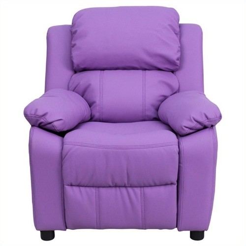 Flash Furniture Contemporary Kids Recliner in Lavender