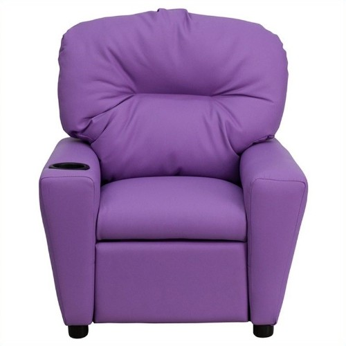 Flash Furniture Vinyl Kids & Teens Recliner Chair - Lavender