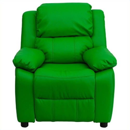 Flash Furniture Contemporary Kids Recliner in Green