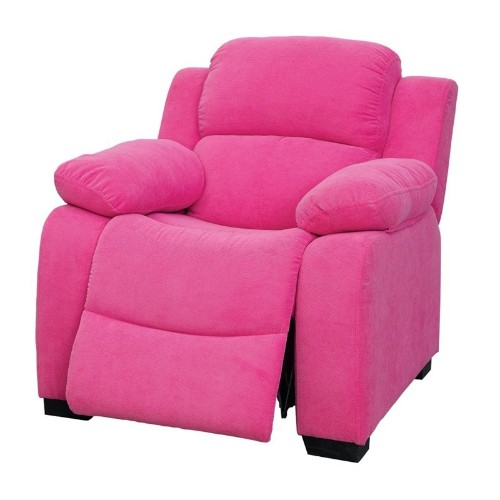 Furniture of America Dara Kids Recliner in Pink