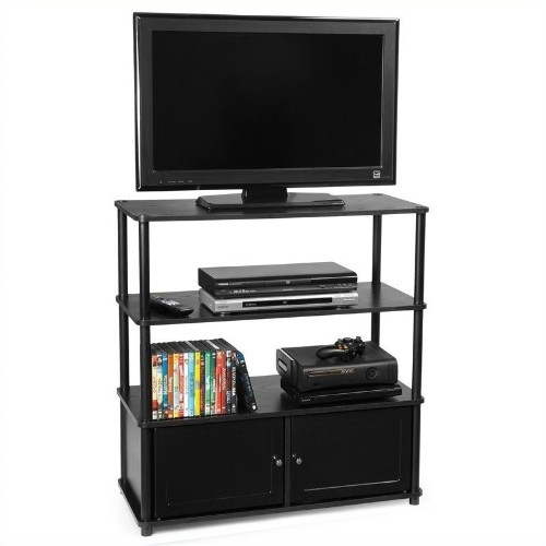 Convenience Concepts Designs2go 35 Highboy Tv Stand In Black Tv