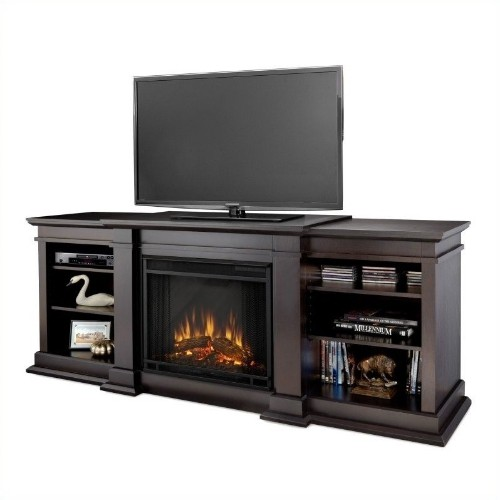 Real Flame Fresno TV Stand Electric Fireplace In Dark Walnut : TV Stands    Best Buy Canada