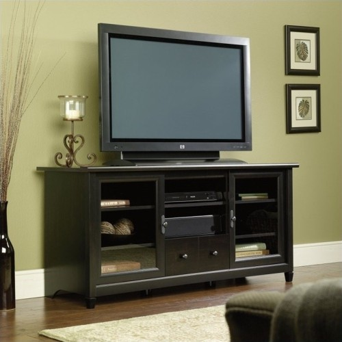 "Sauder Edge Water 59"" TV Stand in Estate Black TV Stands Best"