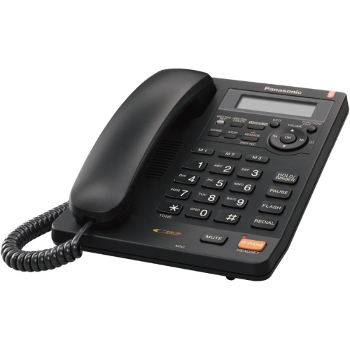 Panasonic KXTS620 Black Corded Phone with Caller ID and ...