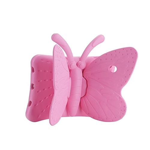 Shockproof Butterfly Foam Stand Case for Apple iPad 2/3/4 Tablet - Baby Pink