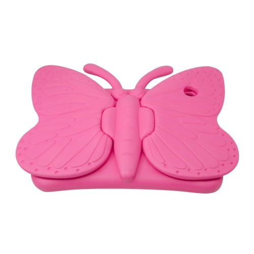 Shockproof Butterfly Foam Stand Case for Apple iPad Air 1/2 Tablet - Hot Pink