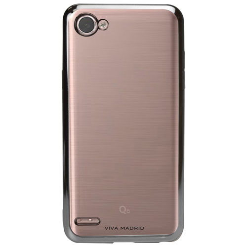 Viva Madrid Metalico Fitted Soft Shell Case for LG Q6 - Gun Metal