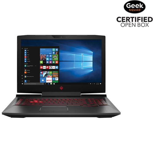 "HP OMEN 17.3"" Gaming Laptop - Black (Intel i7-7700HQ/1TB HDD/128GB SSD/12GB RAM/Win 10) - Open Box"