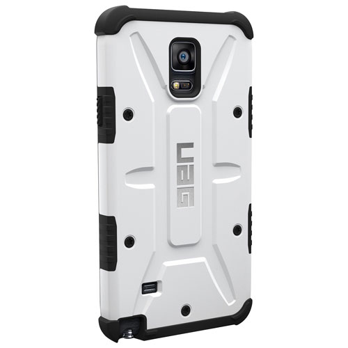 Étui rigide ajusté d'UAG pour Galaxy Note 4 - Blanc