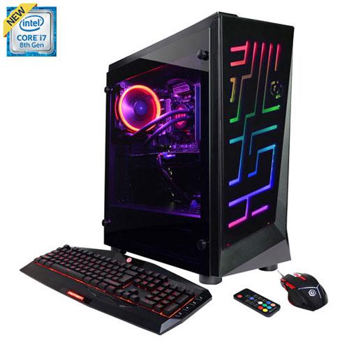 CyberPowerPC Gamer Supreme PC (Intel Core i7-8700K/2TB HDD/16GB RAM/AMD Radeon RX 580/Win 10) - Eng