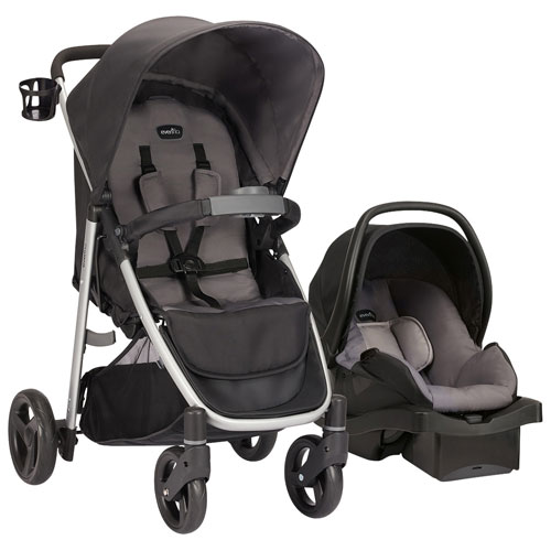 Evenflo FlipSide Standard Stroller With LiteMax Infant Car Seat