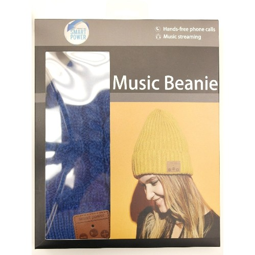 597cbfacc8a Bluetooth 4.1 Hands-free Stereo Music Double Layer Beanie Blue   Bluetooth  Headsets - Best Buy Canada