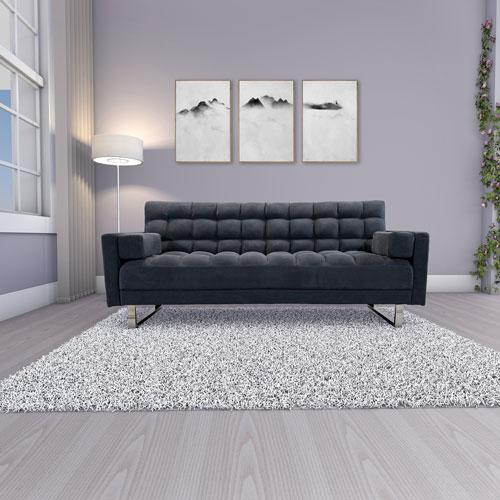 Deejay Jayla Fabric Futon Double Slate Futons Sofa Beds