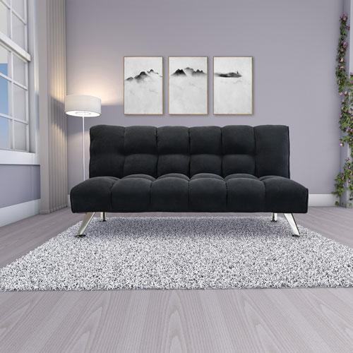 Deejay Levar Fabric Futon Double Black Futons Sofa Beds