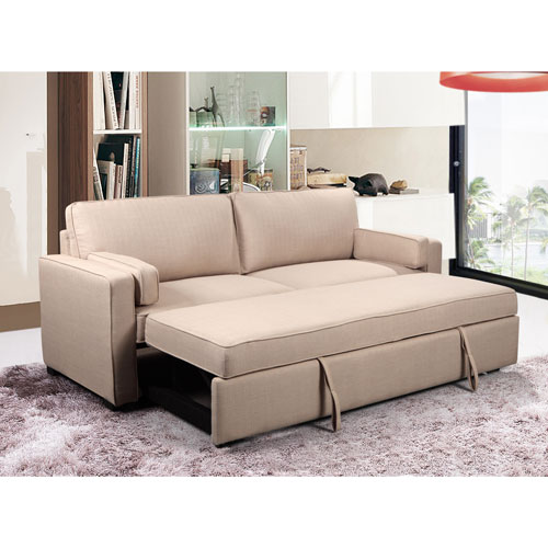 clemmy contemporary linen sofa bed cream futons sofa beds rh bestbuy ca sofa bed canada leather sofa bed canada ikea