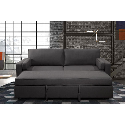 clemmy contemporary linen sofa bed with pull out sleeper grey rh bestbuy ca contemporary sleeper sofa for sale contemporary sleeper sofa for sale