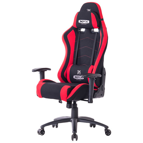 xfx ergonomic fabric gaming chair red gaming chairs best buy canada. Black Bedroom Furniture Sets. Home Design Ideas