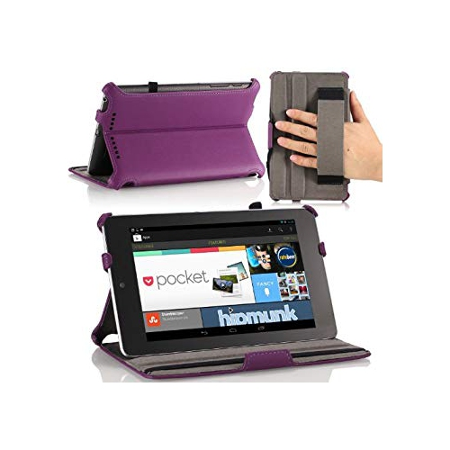 Google Nexus 7 Case - MoKo Slim-fit Cover Case for Google Nexus 7 Android Tablet by Asus, PURPLE (with Automatic Sleep/Wake Fu