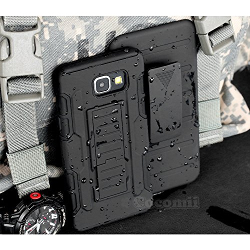 Galaxy A5 2017 Case, Cocomii Robot Armor NEW [Heavy Duty] Premium Belt Clip Holster Kickstand Shockproof Hard Bumper Shell [Mi