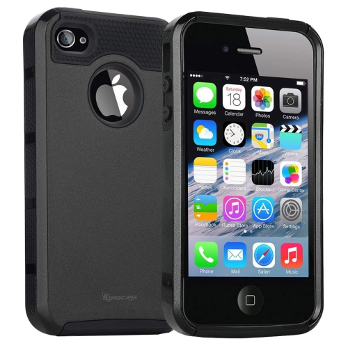iPhone 4 Case,iPhone 4s Case,armor Impact Resistant Rugge Durable Shockproof Heavy Duty Protection Dual Layer Case Cover for A