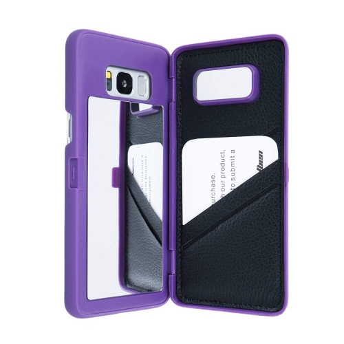 Galaxy S8 Plus Case,Wetben Hidden Back Mirror Wallet Case Cover with Stand Feature and Card Holder for Samsung Galaxy S8 Plus