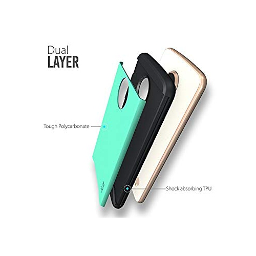 premium selection 6b19d 6a655 TUDIA Moto Z2 Play Case Slim-Fit Heavy Duty [Merge] Extreme Protection  Rugged but Slim Dual Layer Case for Motorola Moto Z2 P