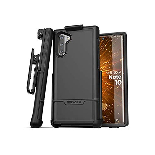 Galaxy S8 Plus Belt Clip Case, Premium Tough Protection w/ Holster - R5 by Encased (Samsung S8+) (Smooth Black)