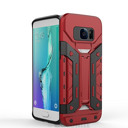 Galaxy S7 Edge Case, Cocomii Transformer Armor NEW [Heavy Duty] Premium Built-in Multi Card Holder Kickstand Shockproof Hard B
