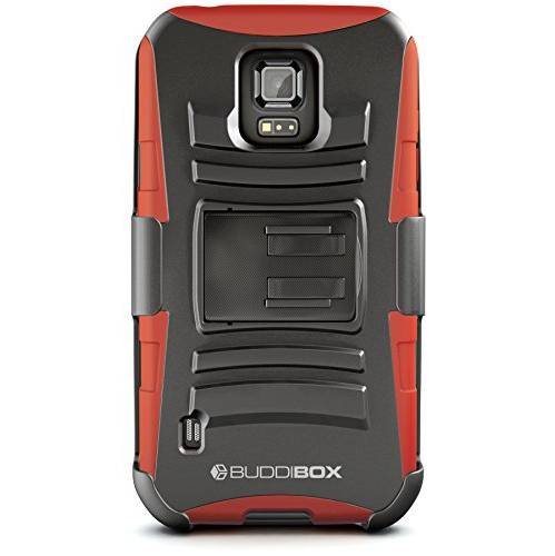 Galaxy S5 Active Case, BUDDIBOX [HSeries] Heavy Duty Swivel Belt Clip Holster with Kickstand Maximal Protection Case for Samsu