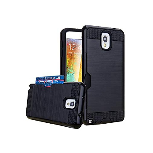 Galaxy Note 3 Case, Jwest Hybrid Armor Galaxy Note 3 Wallet Case Protective Shell Hard PC Case + Soft TPU Bumper Cover with Ca