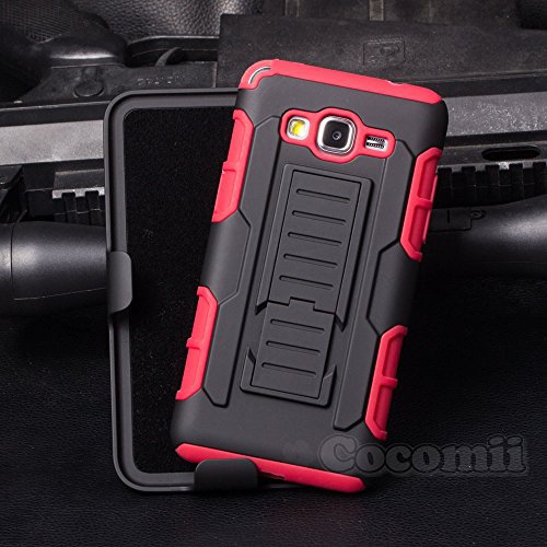Galaxy Grand Prime Case, Cocomii Robot Armor NEW [Heavy Duty] Premium Belt Clip Holster Kickstand Shockproof Hard Bumper Shell