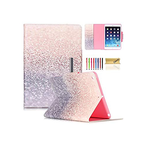 iPad Air Case, Dteck(TM) Colorful Painting Magnetic Closure Design Wallet Case with [Auto Wake/Sleep Function] Flip Stand Smar