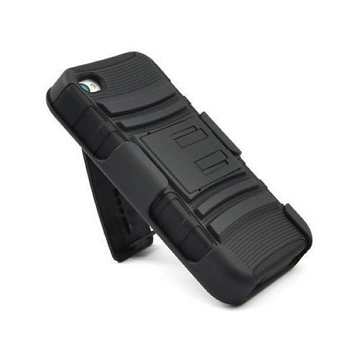iPhone 4 Case, Osurce Apple iPhone 4/4S Heavy Duty Hybrid Dual Layer 3 in 1 Holster Case with Kick Stand and Belt Clip for App