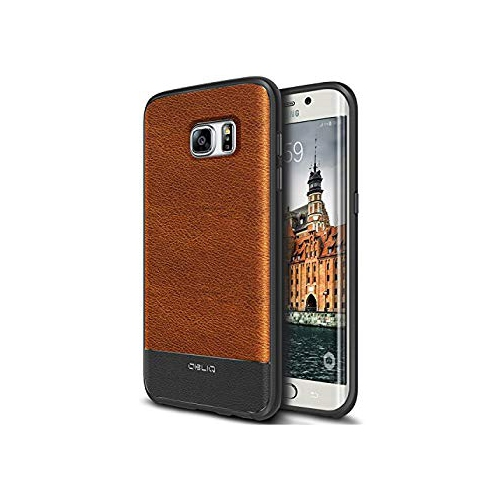 Galaxy S7 Edge Case, OBLIQ [Flex Pro][Brown] Premium PU Leather Slim Fit Form Fitting Heavy Duty Protective Cover for Galaxy S