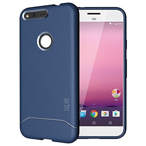 Google Pixel Case, TUDIA Full-Matte Lightweight [ARCH] TPU Bumper Shock Absorption Case for Google Pixel (Blue)