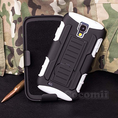 Galaxy S4 Case, Cocomii Robot Armor NEW [Heavy Duty] Premium Belt Clip Holster Kickstand Shockproof Hard Bumper Shell [Militar