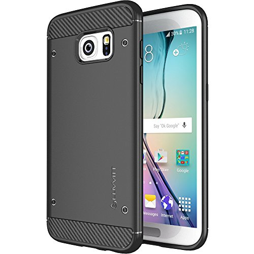 Galaxy S7 Edge Case, LUVVITT [Sleek Armor] Slim Shock Absorbing Flexible Back Cover TPU Rubber Case for Samsung Galaxy S7 Edge