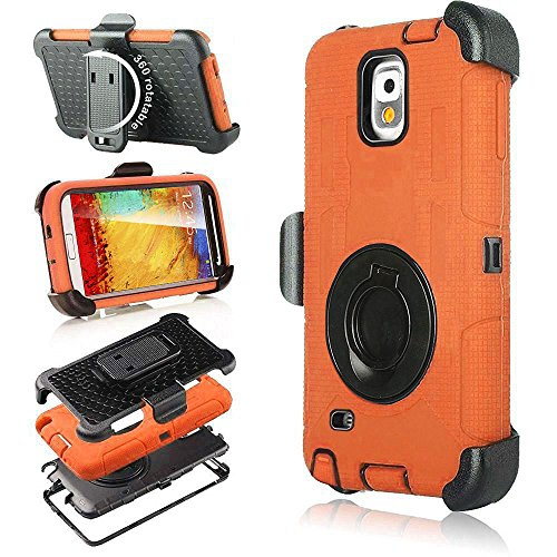 Galaxy Note 3 Case, Note 3 Case, Jwest Shockproof Hybrid Rugged Samsung Galaxy Note 3 Case Rubber Three Layer Holster Cover Ca