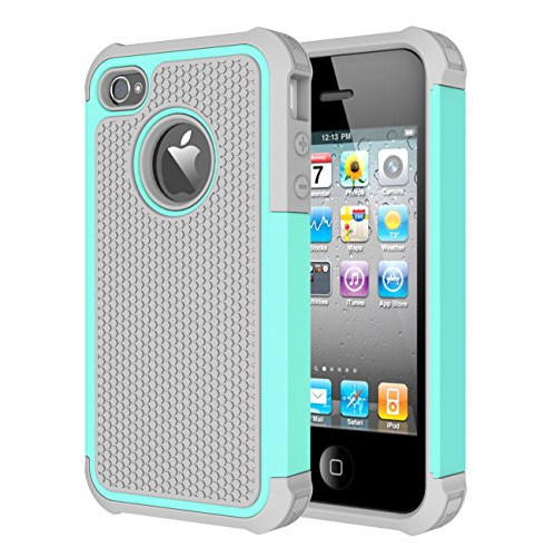 iPhone 4 Case, iPhone 4S Case, CHTech Shockproof Durable Hybrid Dual Layer Armor Defender Protective Case Cover for Apple iPho