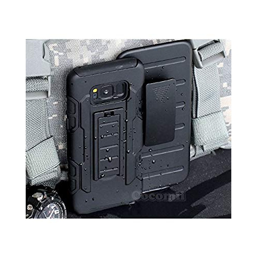 Galaxy S8 Case, Cocomii Robot Armor NEW [Heavy Duty] Premium Belt Clip Holster Kickstand Shockproof Hard Bumper Shell [Militar