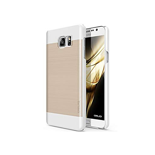Galaxy Note 5 Case, OBLIQ [Slim Meta][Champagne Gold/White] - Thin Slim Fit Bumper Metallic Polycarbonate Finish All Around Pr