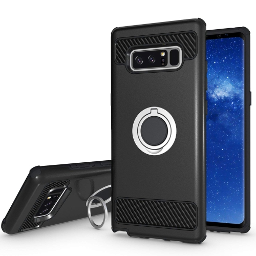 Galaxy Note 8 Case, Jwest Dual Layer Shockproof Rugged Hard Impact Resistant Note8 Armor Case with 360 Rotating Ring Holder Gr